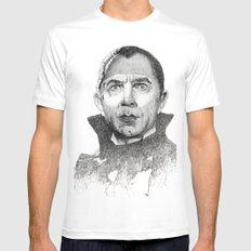Dracula Bela lugosi Mens Fitted Tee MEDIUM White