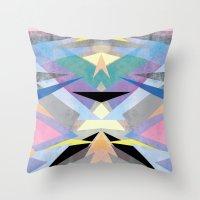 origami Throw Pillows featuring Origami by Marta Olga Klara