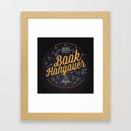 Book hangover Framed Art Print