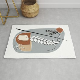 Minimalist Abstract Potted Plants Rug