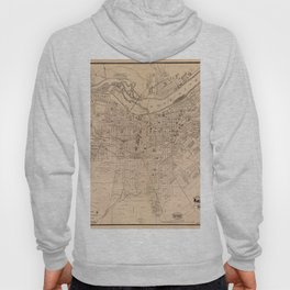 Map Of Louisville 1873 Hoody