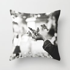 The man of birds Throw Pillow