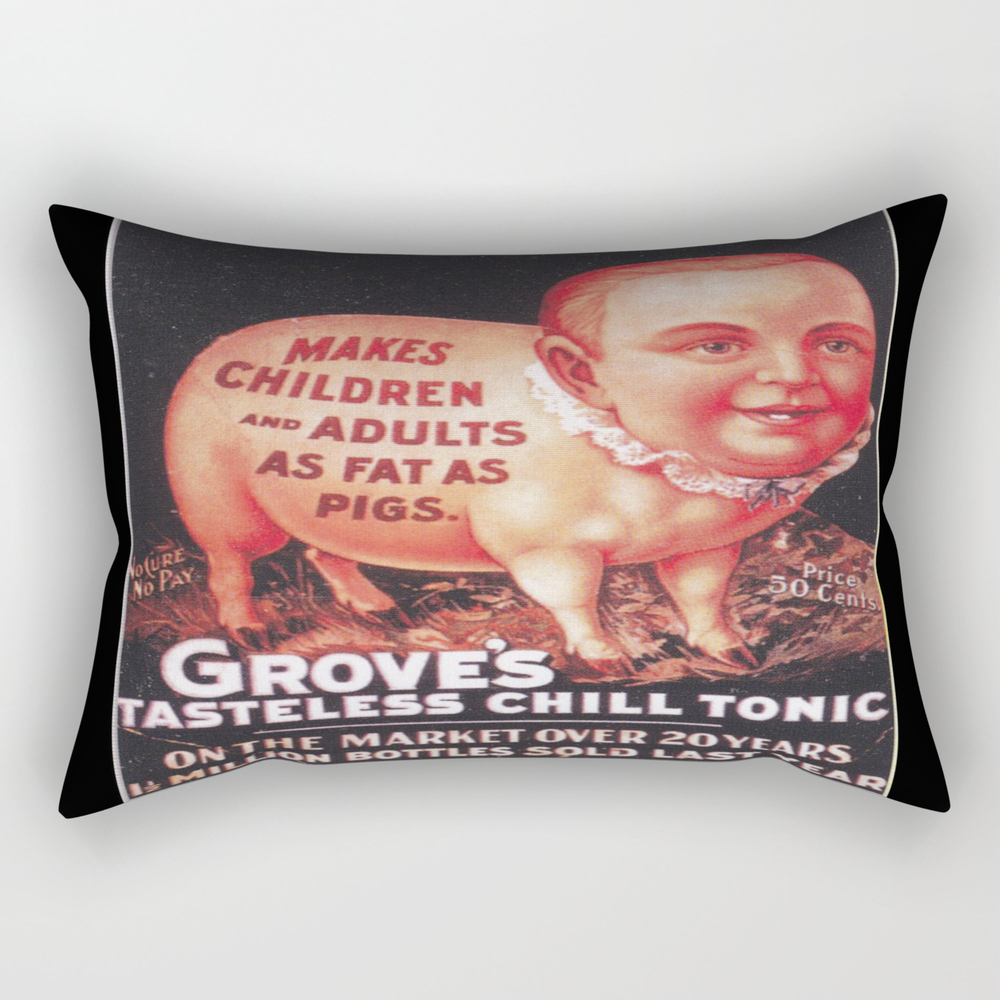 Grove's Tasteless Tonic Rectangular Pillow (RPW9453837) photo