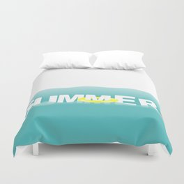 Summer with waves Duvet Cover