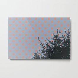 Pine tree and polka dots Metal Print