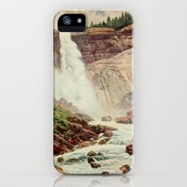 Bagg, Henry H. (1852-1928) - On Sunset Highways 1921 - Nevada Fall, Yosemite iPhone Case