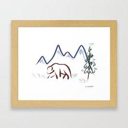 Mountain Air II Framed Art Print