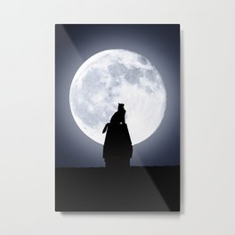 Cat by Day, Vigilante by Night Metal Print
