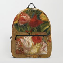 "Auguste Renoir ""Tulipes (Tulips)"" Backpack"