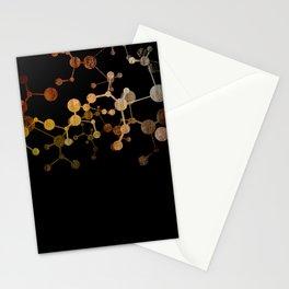 Metallic Molecule Stationery Cards