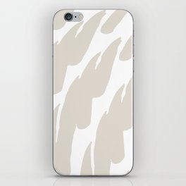 Neutral Abstract Brush Marks iPhone Skin