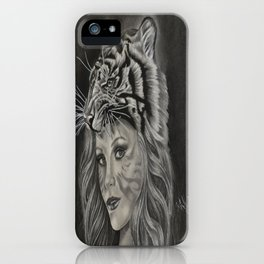 Tiger Girl iPhone Case