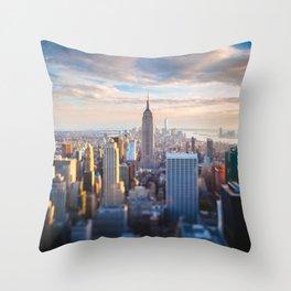 New York City at Sunset Throw Pillow