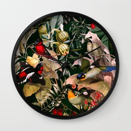 Floral and Birds XXV Wall Clock
