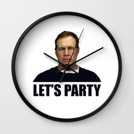 Belichick Lets Party Wall Clock