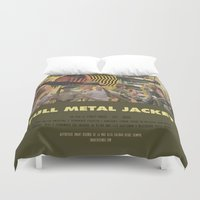 stanley kubrick Duvet Covers featuring Full Metal Jacket - Stanley Kubrick by Smart Store