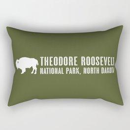 Bison: Theodore Roosevelt, North Dakota Rectangular Pillow