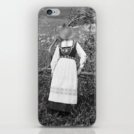 Miss Onion by the bushes. 1915. iPhone Skin