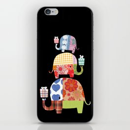 Patchwork Elephants - Gifts iPhone Skin