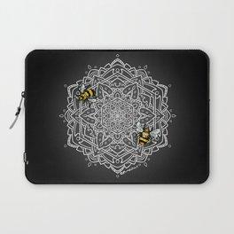 Bee Dance Mandala A - White Laptop Sleeve