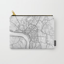 Vientiane City Map of Laos - Light Carry-All Pouch