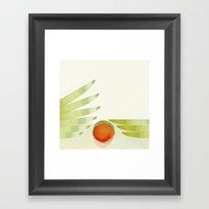 green 2 | digital sessions Framed Art Print