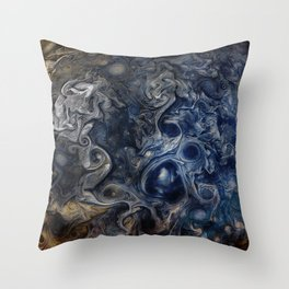 Jupiter Blues Throw Pillow