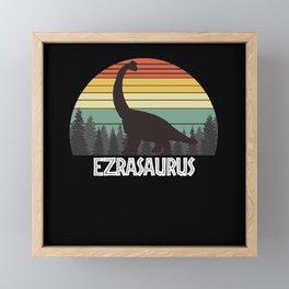 EZRASAURUS EZRA SAURUS EZRA DINOSAUR Framed Mini Art Print