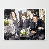 30 rock Canvas Prints featuring 30 ROCK by rcknroby
