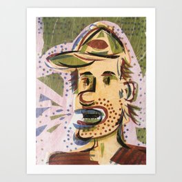 Cartoon Face Art Print