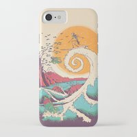 humor iPhone & iPod Cases featuring Surf Before Christmas by Victor Vercesi