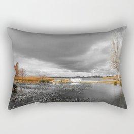 A Moody Winter's Day Rectangular Pillow