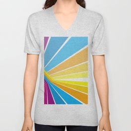 Stripes universe Unisex V-Neck