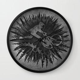 Forest Star Biker Wall Clock