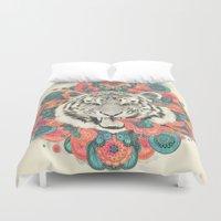 mandala Duvet Covers featuring bengal mandala by Laura Graves