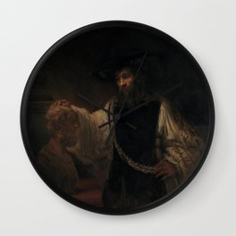 Aristotle with a Bust of H0mer Wall Clock
