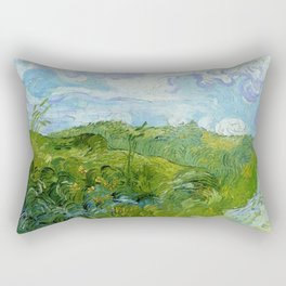 Van Gogh Green Wheat Fields Auvers 1890 Rectangular Pillow