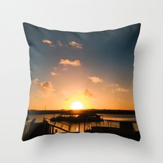 Sun is Going Down Throw Pillow