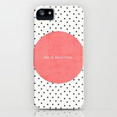 HELLO BEAUTIFUL - POLKA DOTS Slim Case iPhone (5, 5s)