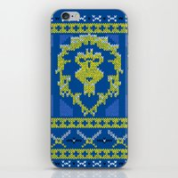 warcraft iPhone & iPod Skins featuring Ugly Sweater 1 by SlothgirlArt