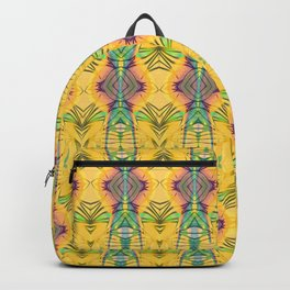Vintage African Yellow Dynamic Pattern Backpack