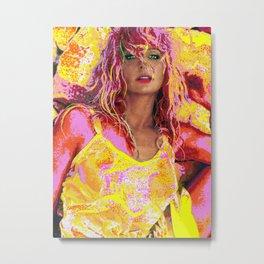 """Farrah Fawcett Digital Art """"Bubble Gum"""" Metal Print"""