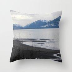 Solitude :: A Lone Kayaker Throw Pillow
