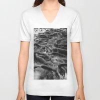 daria V-neck T-shirts featuring Roots by Dar'ya Vlasova