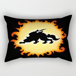 Amaterasu Logo- Black Rectangular Pillow