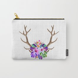 Floral Horn Carry-All Pouch