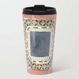 Decorated Gray Central Square  Travel Mug