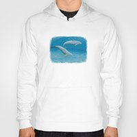 dolphins Hoodies featuring Sandscape Dolphins ~ Acrylic by Amber Marine