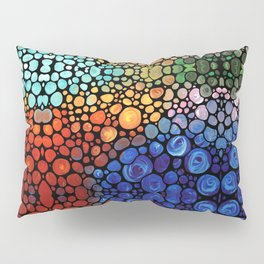Abstract 1 - Beautiful Colorful Mosaic Art by Sharon Cummings Pillow Sham