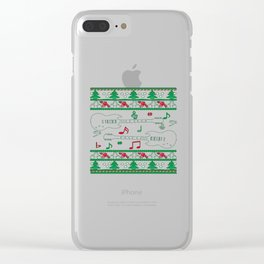 Guitar Christmas Clear iPhone Case